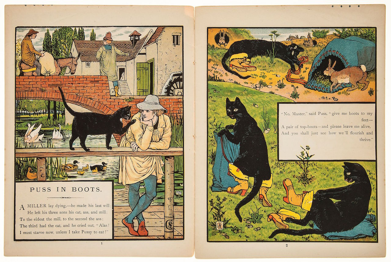 Illustration from 'Puss in Boots' by Walter Crane (c. 1875)