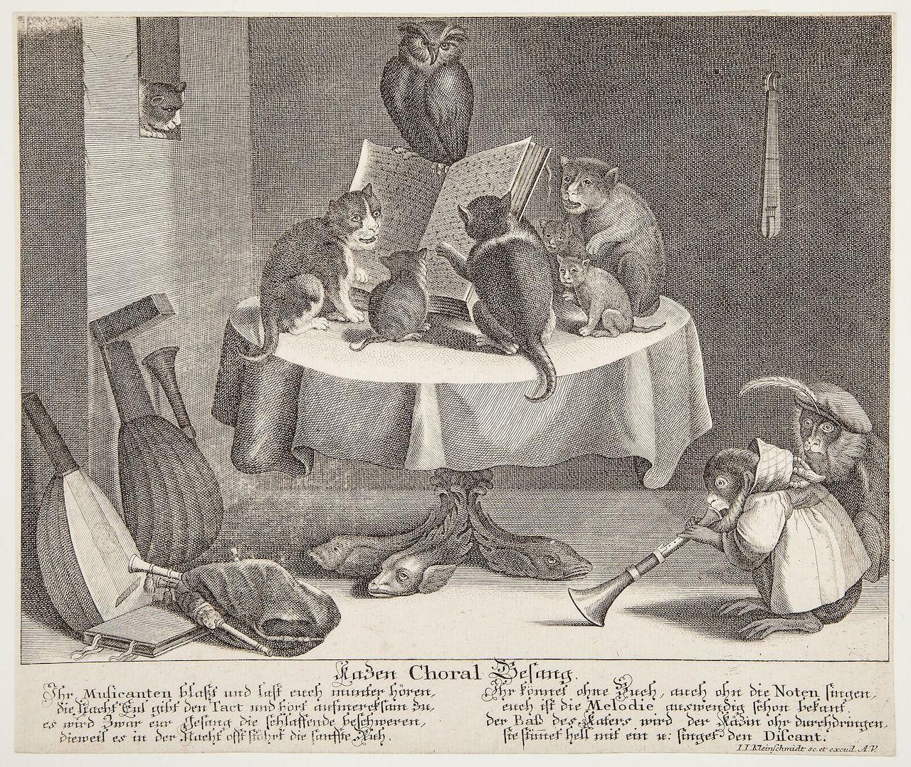 """Johann Jacob Kleinschmidt, """"Katzen Choral Gesant"""""""
