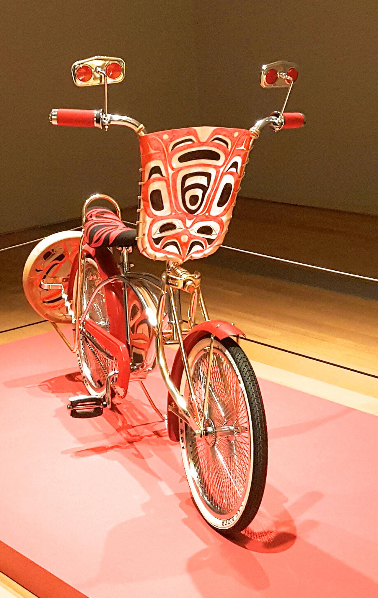 "Dylan Miner, ""Anishinaabensag Biimskowebshkigewag"" (Native Kids Ride Bikes) (click to enlarge)"