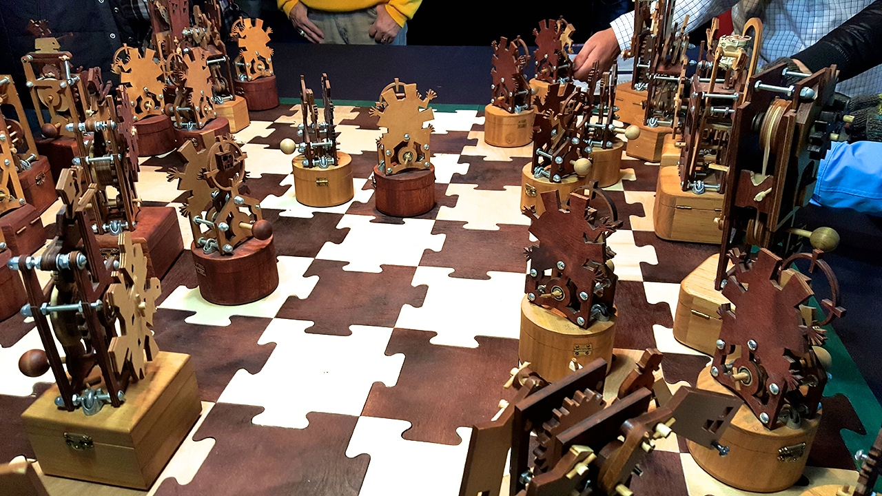 """Andrew Malone's """"Rebellion Chess Set"""" at the B.O.B."""