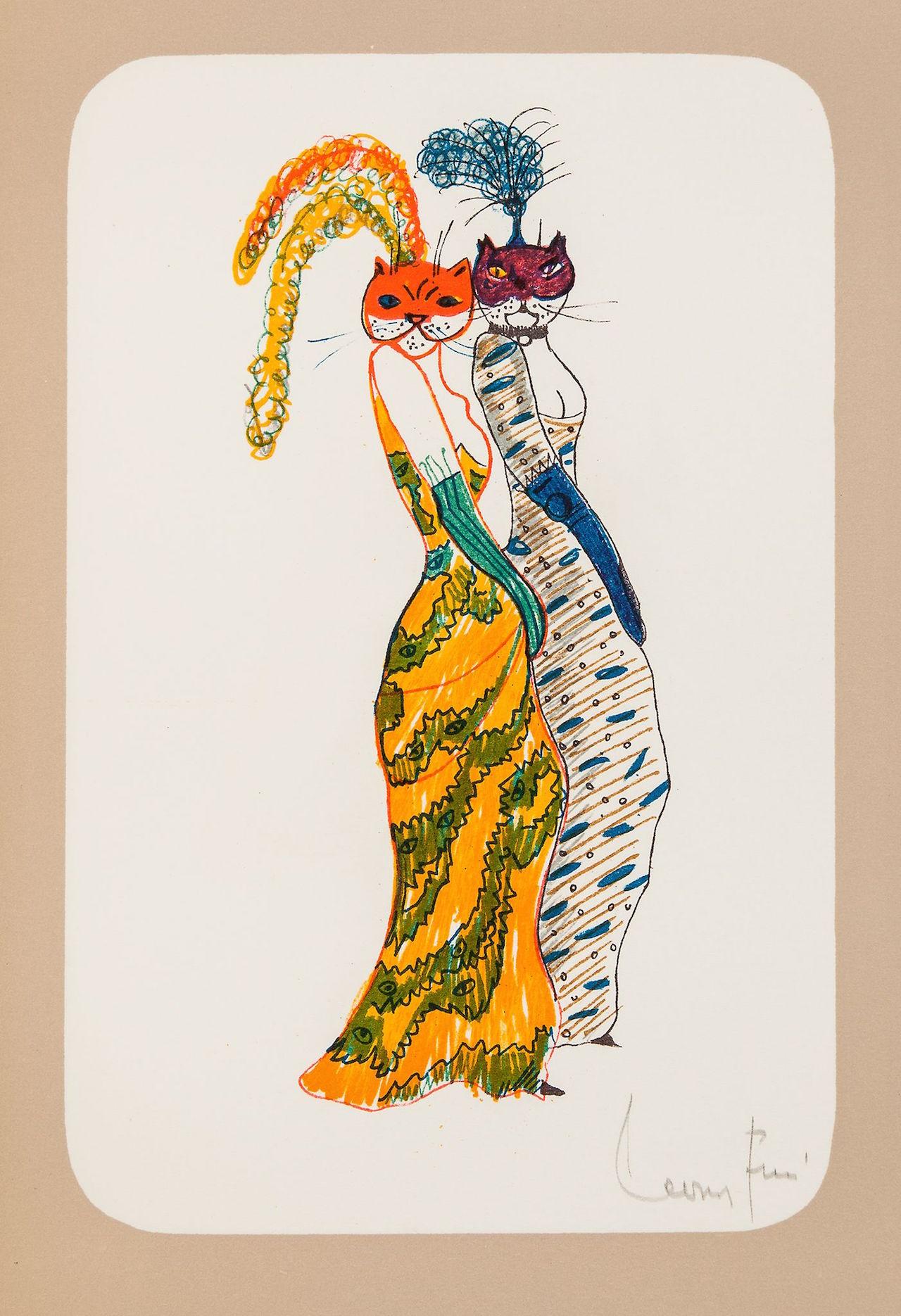 """Leonor Fini, """"La Grande Parade des Chats"""" (1973)"""