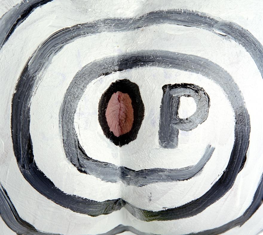 """Boadwee, """"Op Art"""" (1997), 21.75 x 23.5 in"""