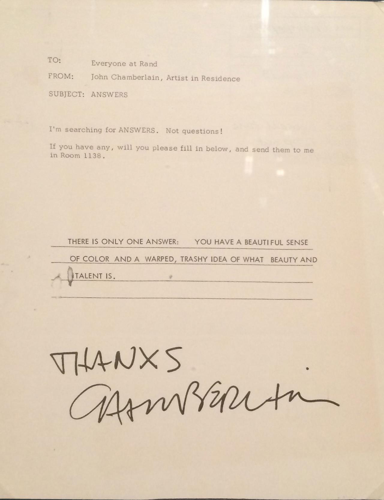 A&T_John Chamberlain memo