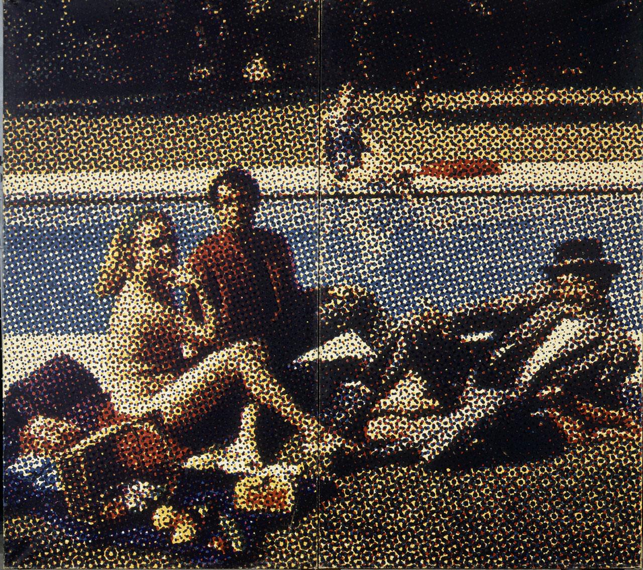 """Alain Jacquet, """"Le déjeuner sur l herbe"""" (1964) (courtesy the Centre Pompidou, © Adagp Paris 2015)"""