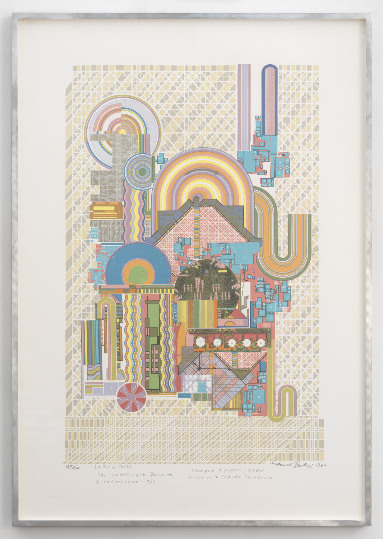 """Eduardo Paolozzi, """"Largo to Presto"""" (1974) (all images courtesy C L E A R I N G unless otherwise noted)"""