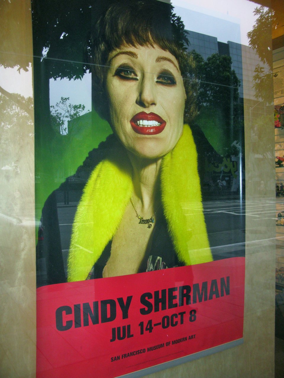 Poster of Cindy Sherman at San Francisco MoMA 2012. Photo by torbakhopper via Flickr.