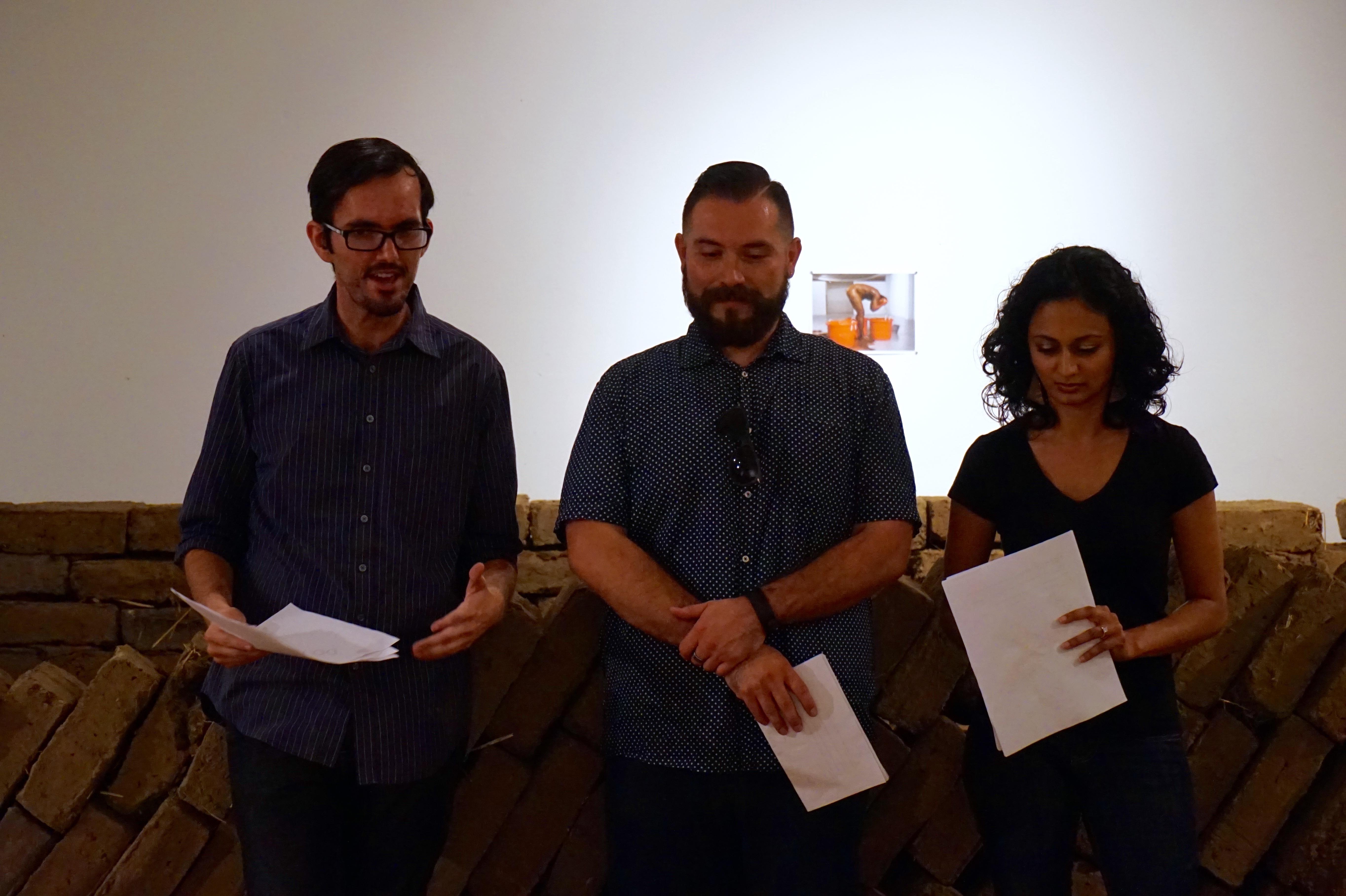 MTT organizers Noé Gaytán, Mario Mesquita, and Shefali Mistry