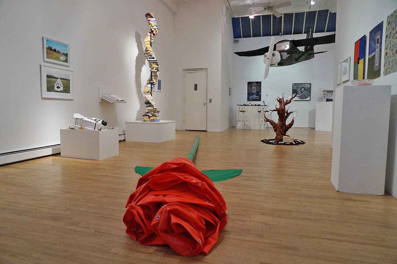 Installation view, 'Life After Death and Elsewhere' at apexart (all photos by the author for Hyperallergic)