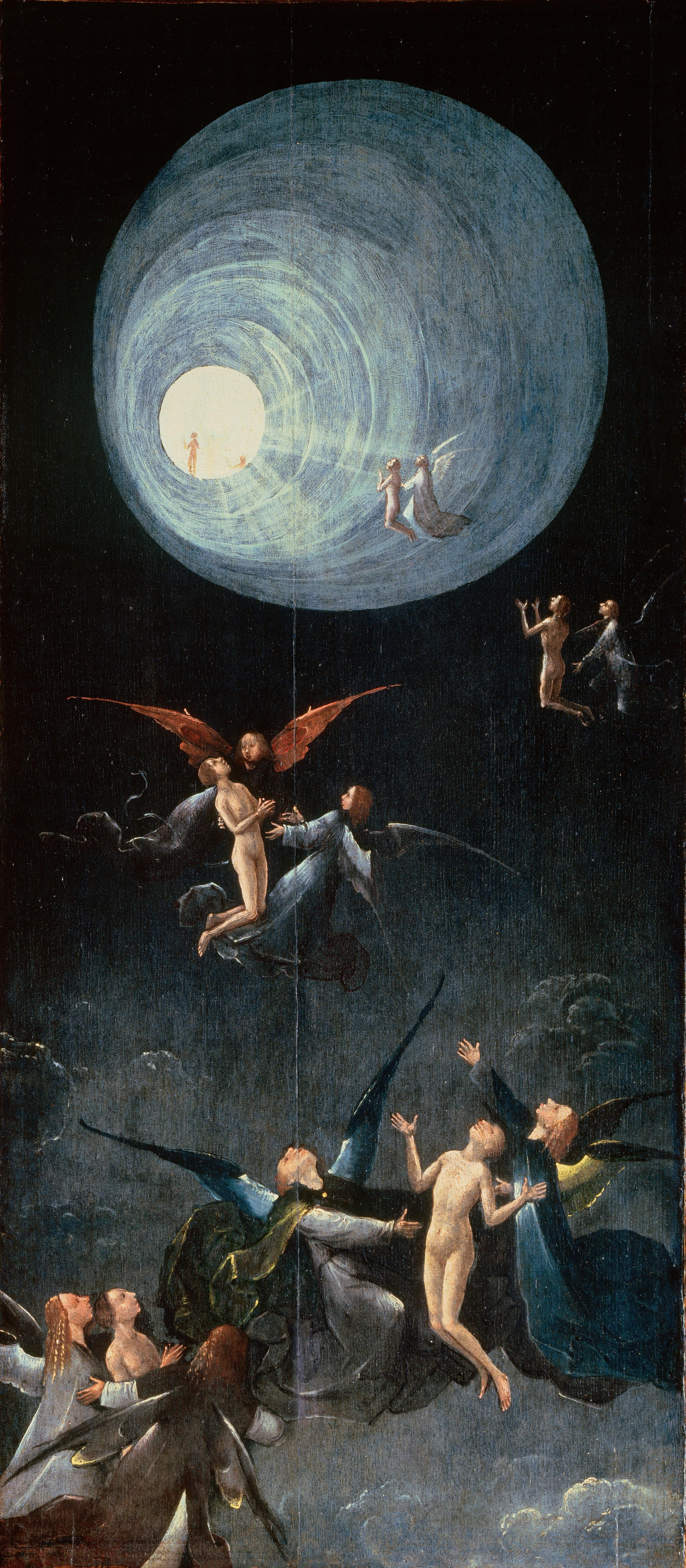 """Ascent of the Blessed,"" Hieronymus Bosch, c. 1490 (image via Wikimedia Commons)"