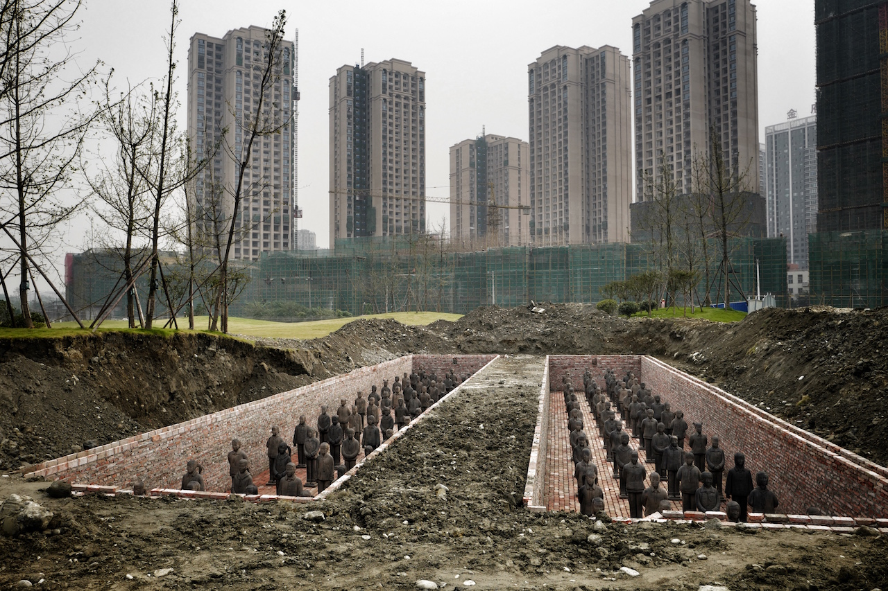 "The burial plot where the Terracotta Daughters will ""sleep"" for 15 years. (All images courtesy )"