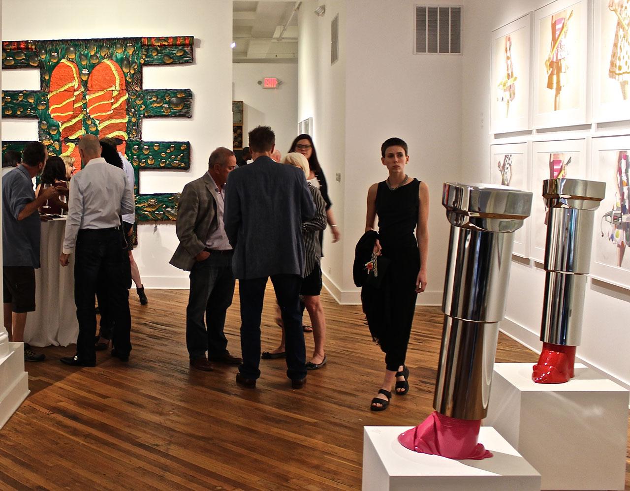 Opening-night crowd at David Klein Gallery Detroit