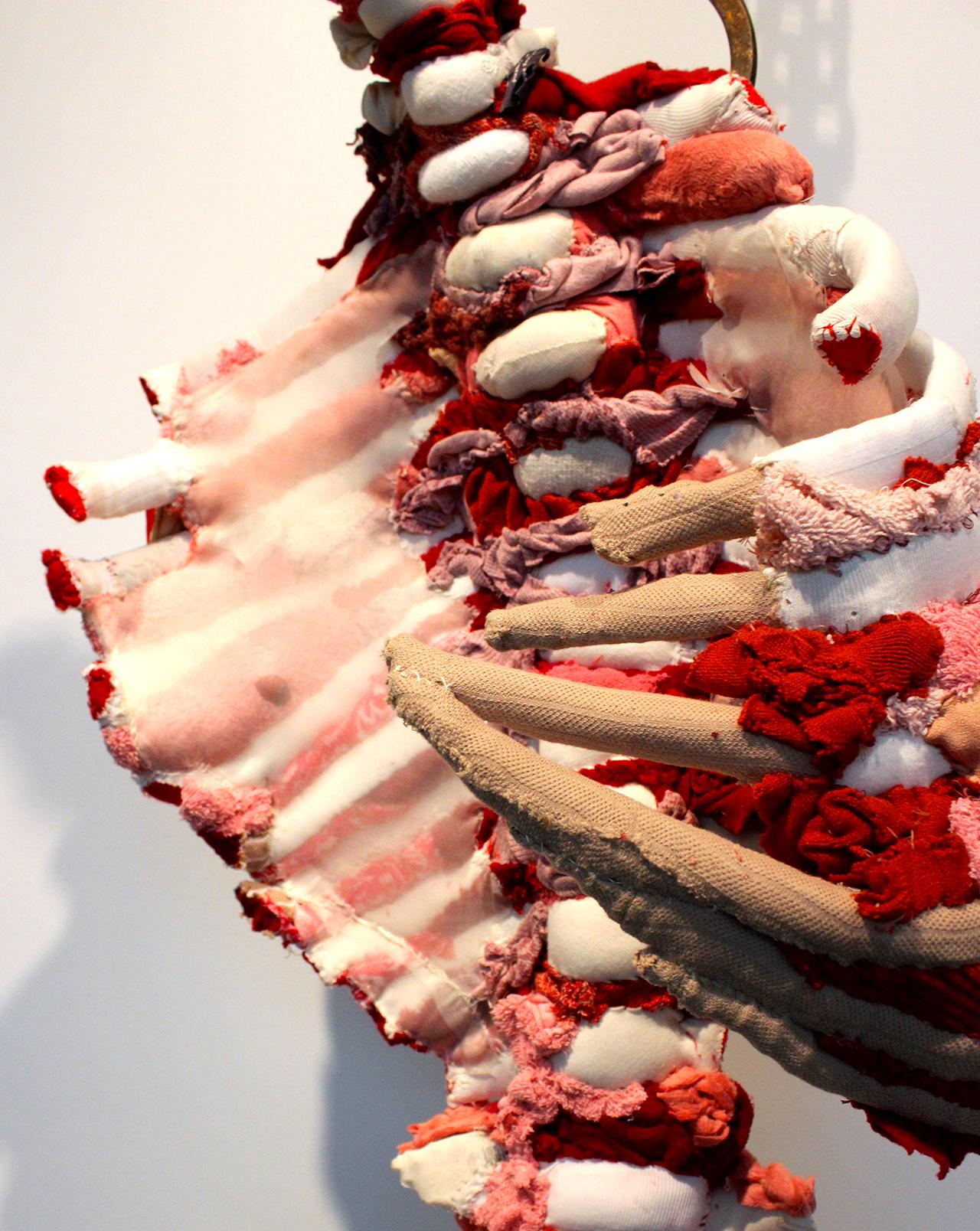 Detail of Tamara Kostianovsky's 'Relic' at the UICA