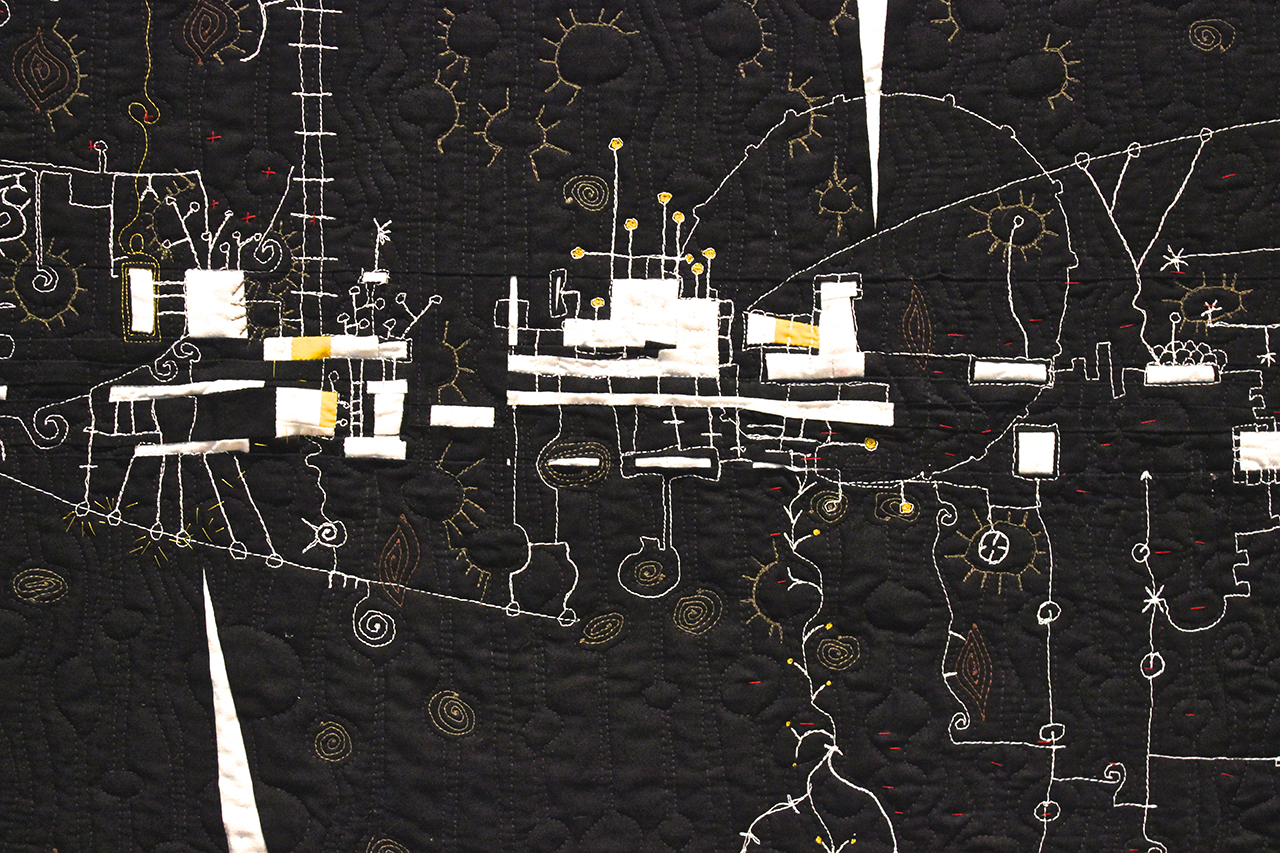 """Detail of Paula Kovarik's """"The Thread that Connects"""""""