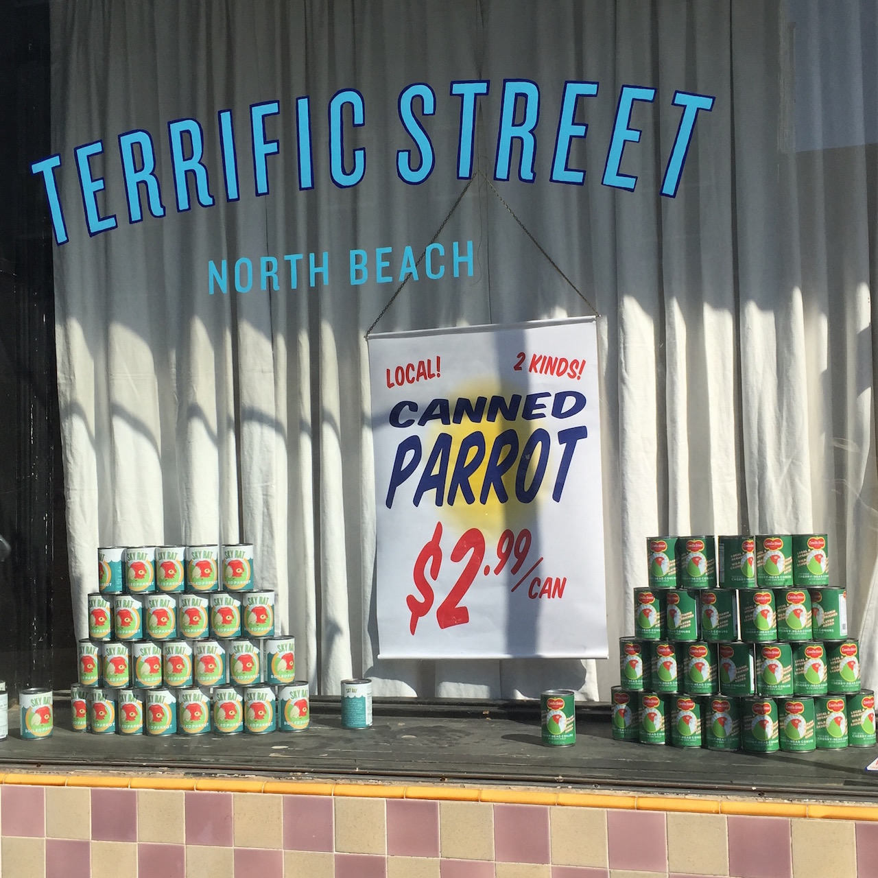 The storefront of the forthcoming Terrific Street (click to enlarge)