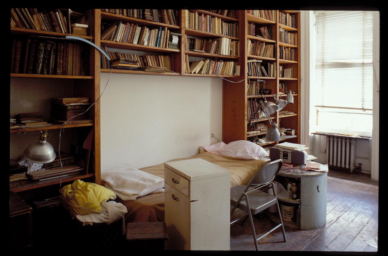 Louise Bourgeois' bedroom in Chelsea, 1998