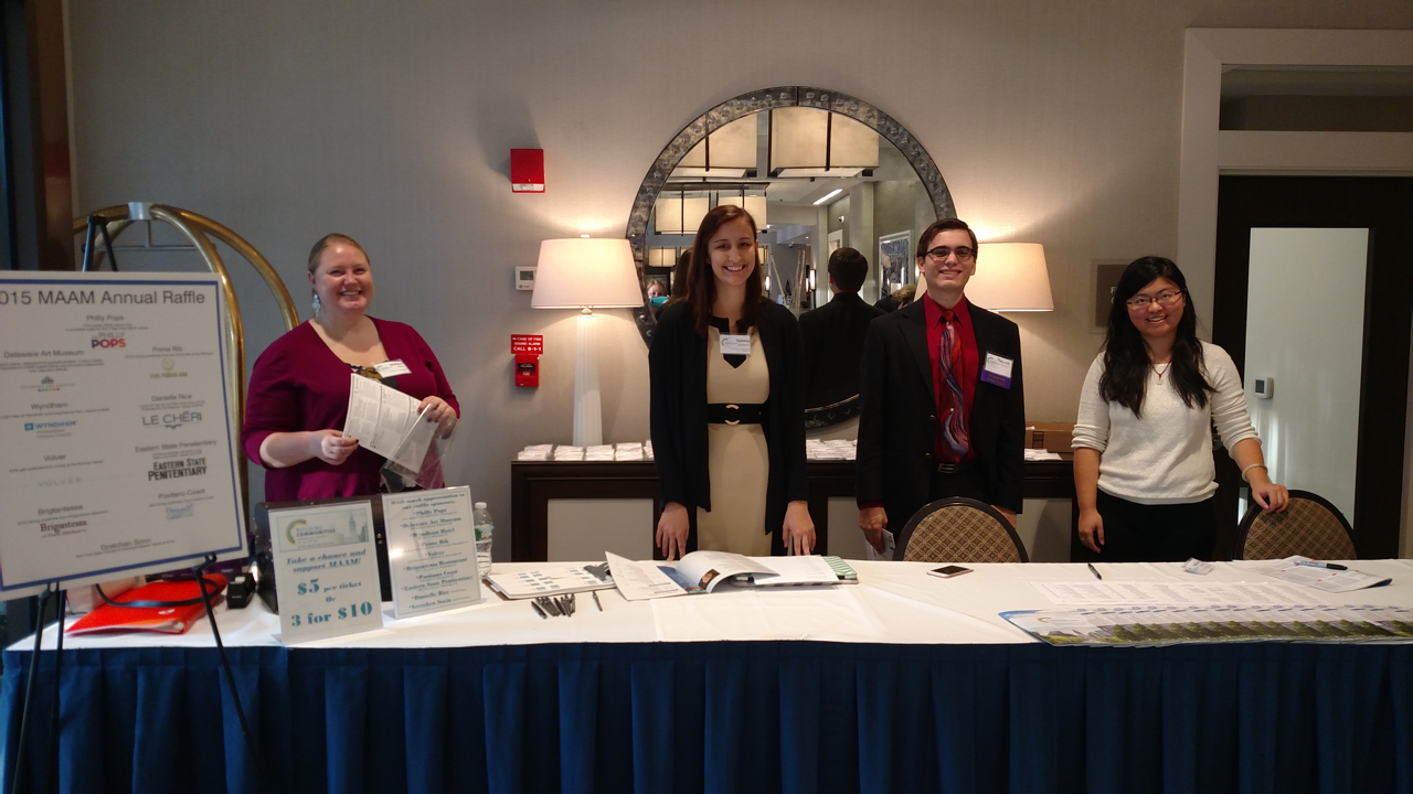 The MAAM staff greeters at the 2015 conference. Photo by Michelle Paulus.