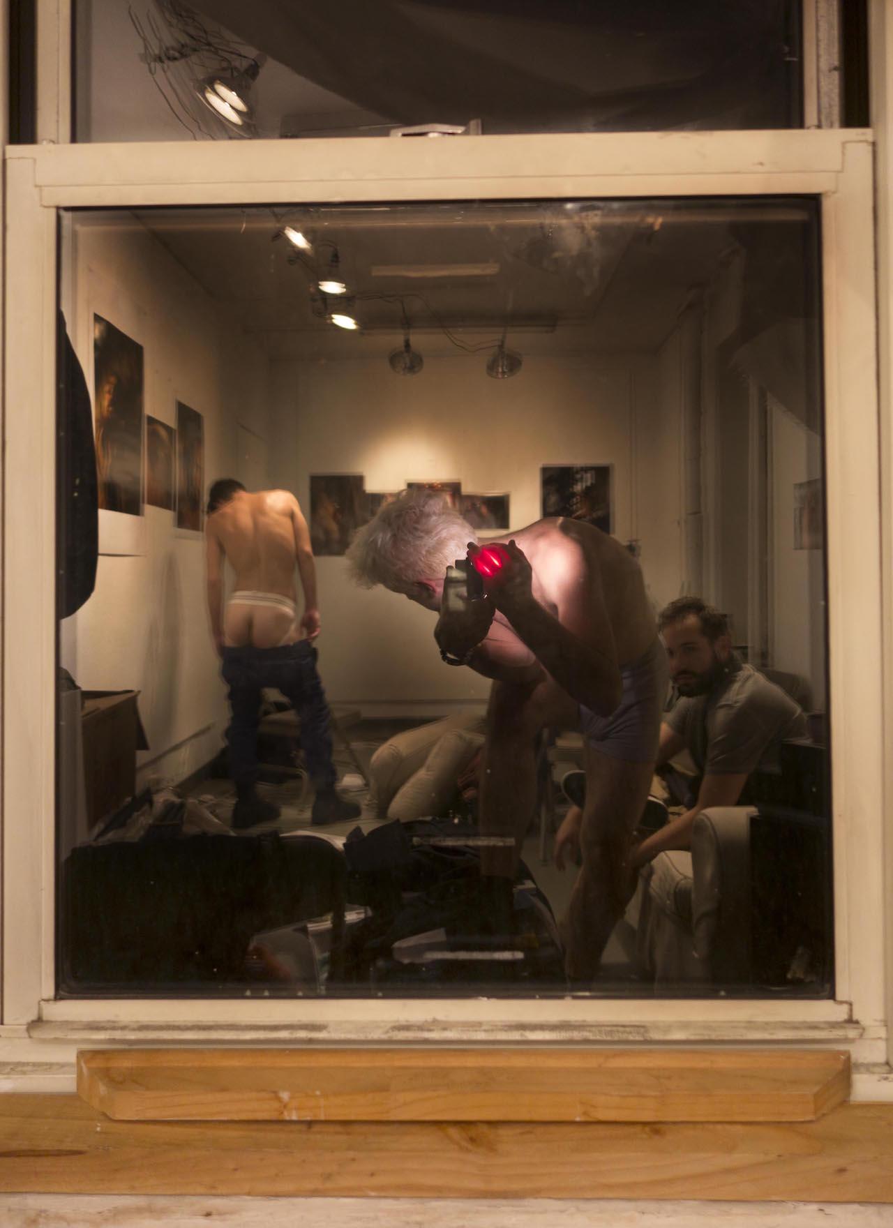 """Matthew Morrocco, """"Threesome in the Window"""""""