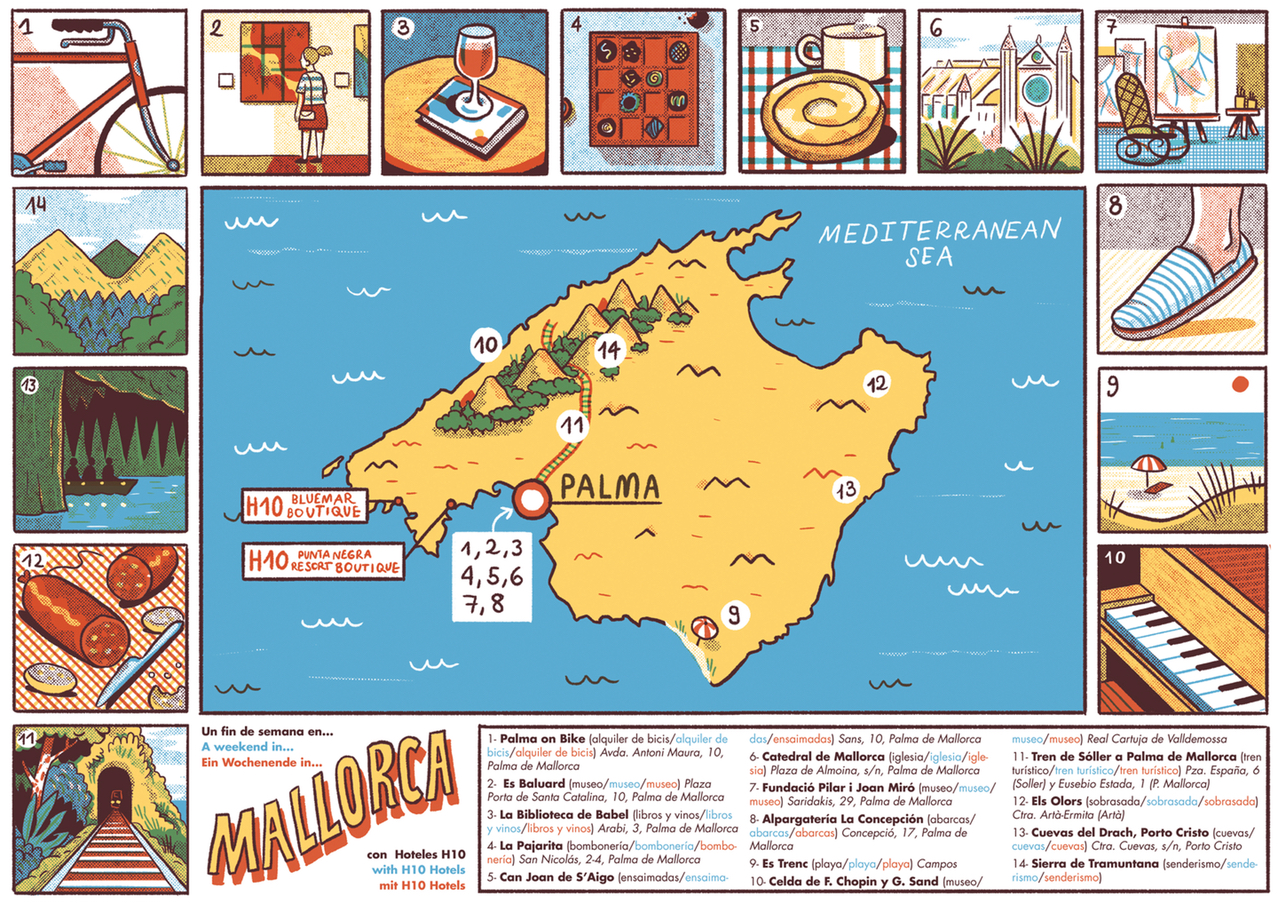 """Andrés Lozano, """"A weekend in Mallorca"""" (By Andrés Lozano from 'Mind the Map,' © Gestalten 2015)"""