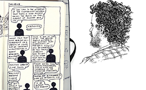 Post image for An Artist Transforms His Sketchbooks into a Story