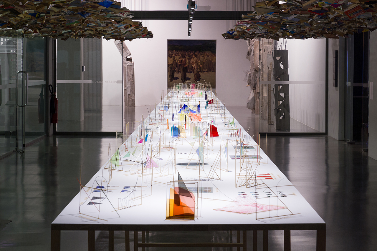 Richard Ibghy & Marilou Lemmens, 'The Prophets' (–ongoing), mixed media, dimensions variable, installation view at Istanbul Modern, 2015, produced in collaboration with Henie Onstad Kunstsenter and with La Biennale de Montréal. (photo by RIML)