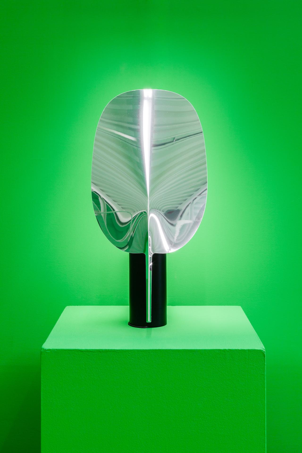 "Patricia Urquiola, ""Serena"" (2015), Aluminium, photoengraved polymethylmethacrylate, 25 x 3 1⁄4 inches"