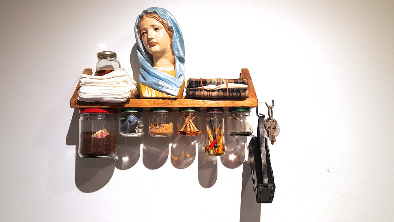 """Scott Northrup, """"Uncle Bud"""" (2008), assemblage (all photos by the author for Hyperallergic unless otherwise noted)"""