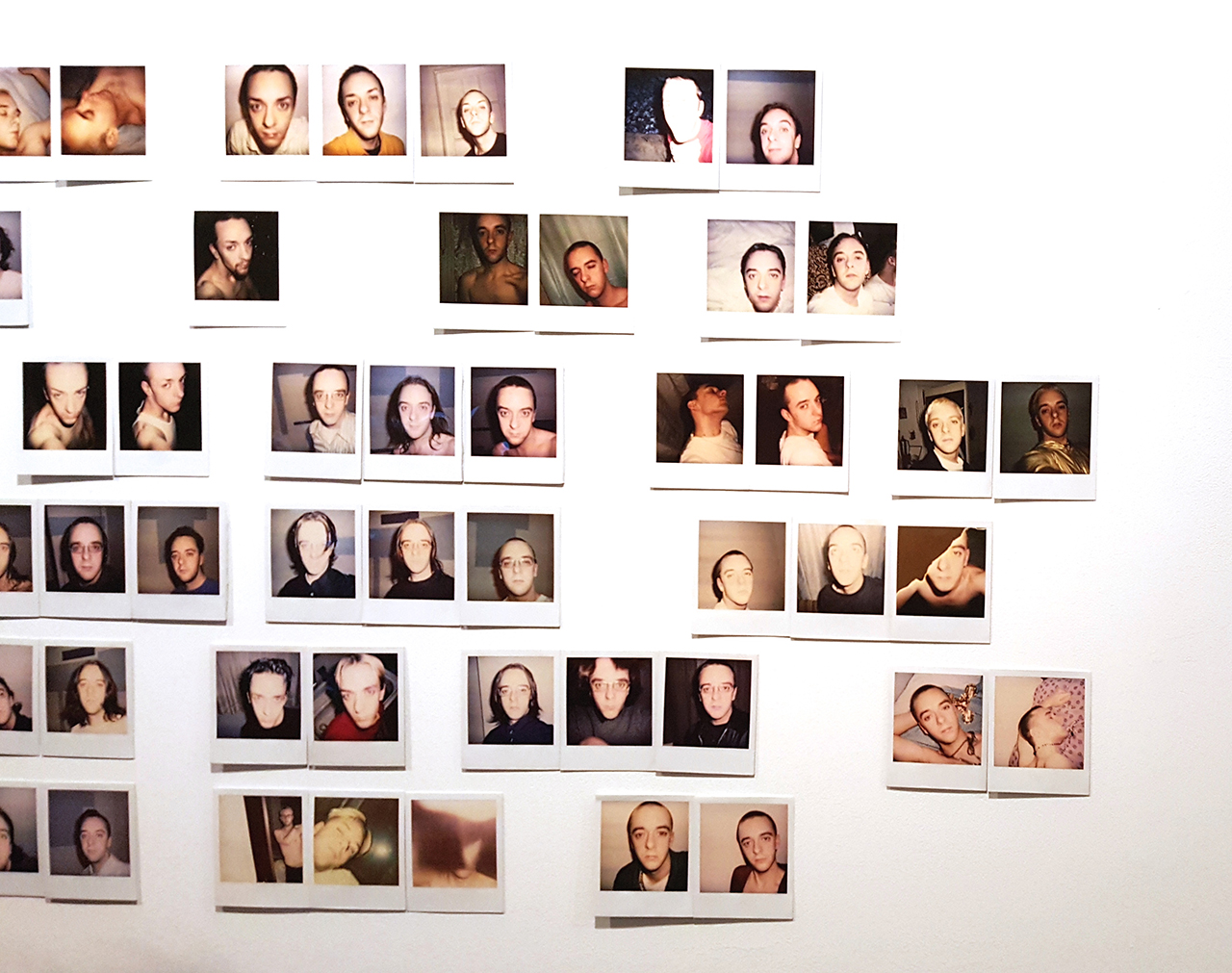 "Scott Northrup, ""1990s"" (detail, 1991–99/2015), 67 Polaroids (click to enlarge)"