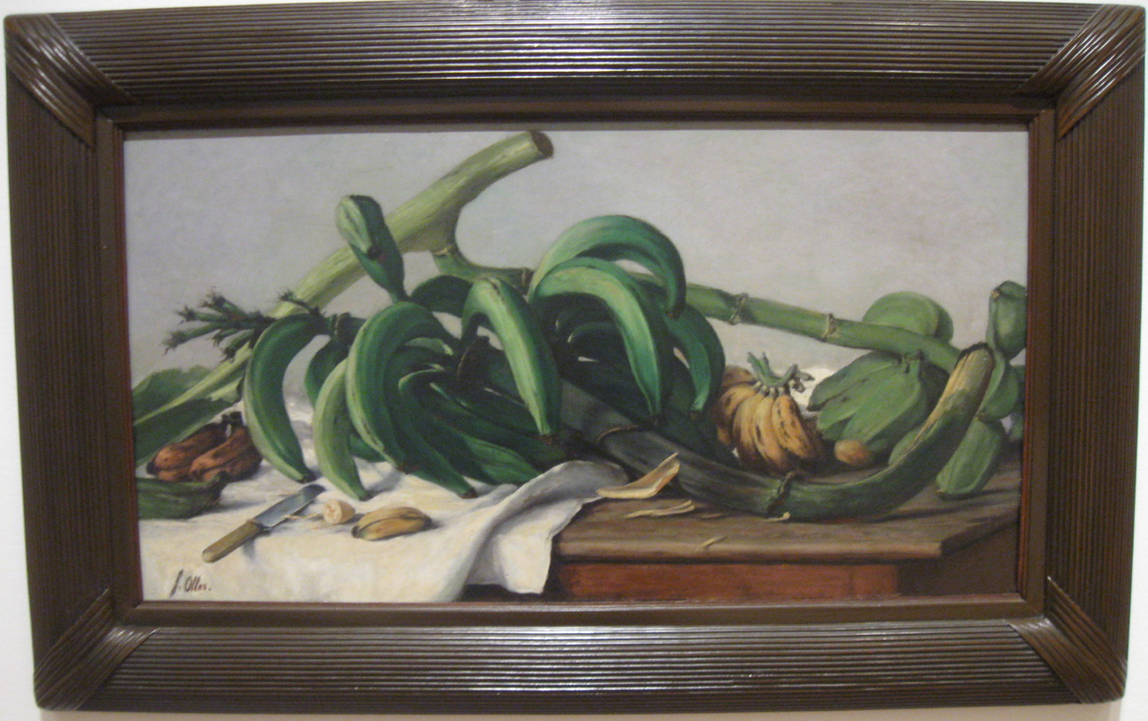 """Francisco Oller """"Still Life with Plantains and Bananas"""" (1893)"""