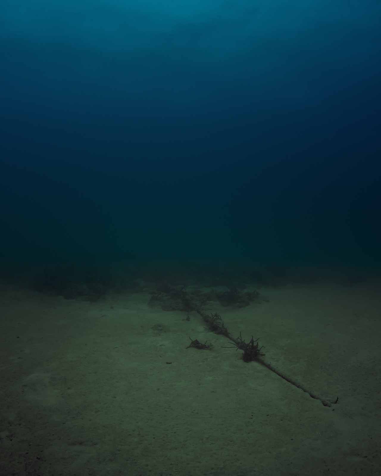 """Trevor Paglen, """"Bahamas Internet Cable System (BICS-1) NSA/GCHQ-Tapped Undersea Cable Atlantic Ocean"""" (2015), c-print (click to enlarge)"""