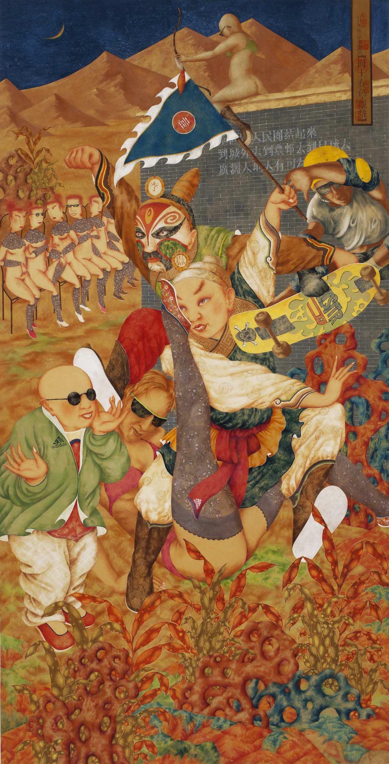 "Shang Jingkui, ""Watching Plays"" (2009), digital print on paper"