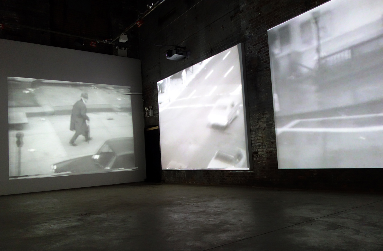 """Aldo Tambellini's """"Atlantic In Brooklyn (1971–72)"""" at the Boiler (photo by the author for Hyperallergic)"""