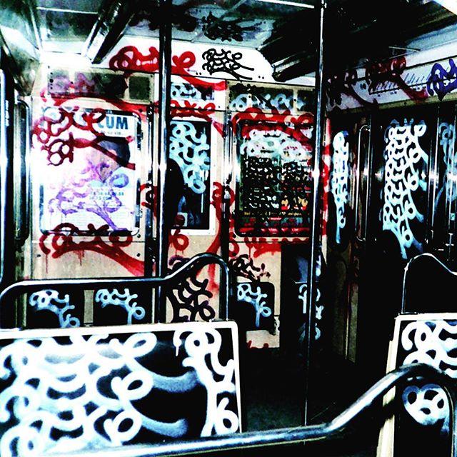 The interior of a Paris metro car tagged by Azyle (photo via @ajputman/Instagram)