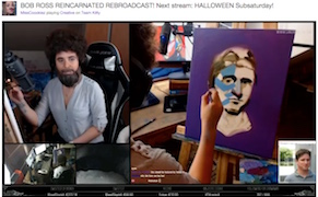 Post image for Watch Sculptors, Knitters, and a Bob Ross Marathon on Twitch's New Art Site