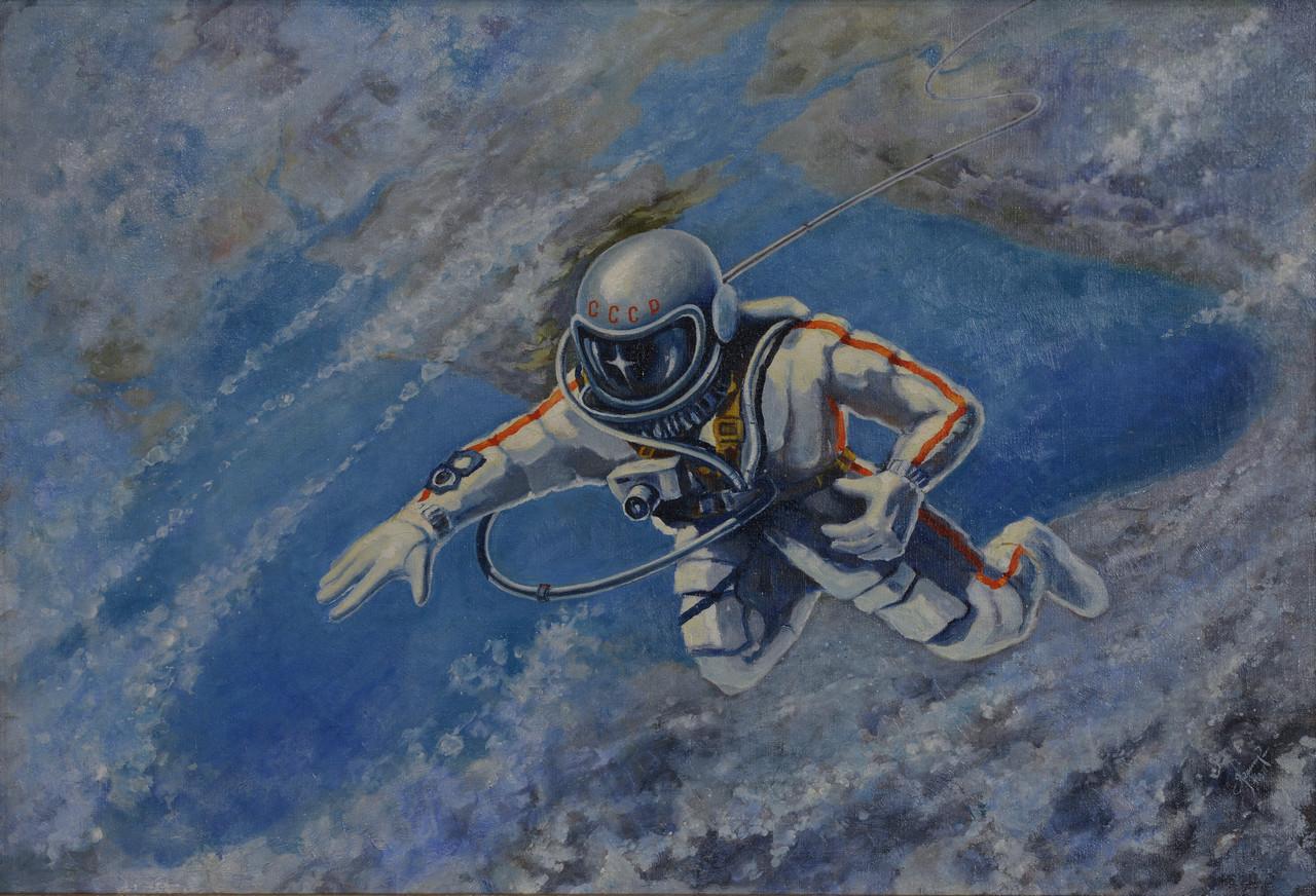 """Alexei Leonov, """"Over the Black Sea"""" (1973) (© The Memorial Museum of Cosmonautics)"""