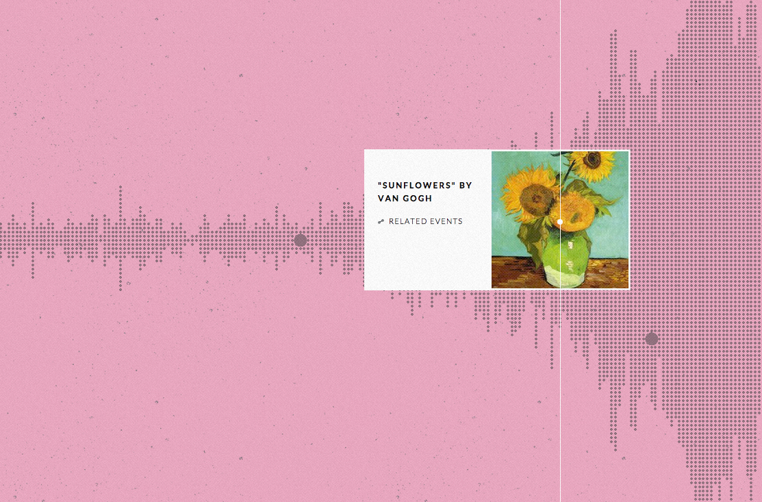 """""""Sunflowers"""" by Vincent van Gogh on Histography (all screenshots by the author viahistography.io)"""