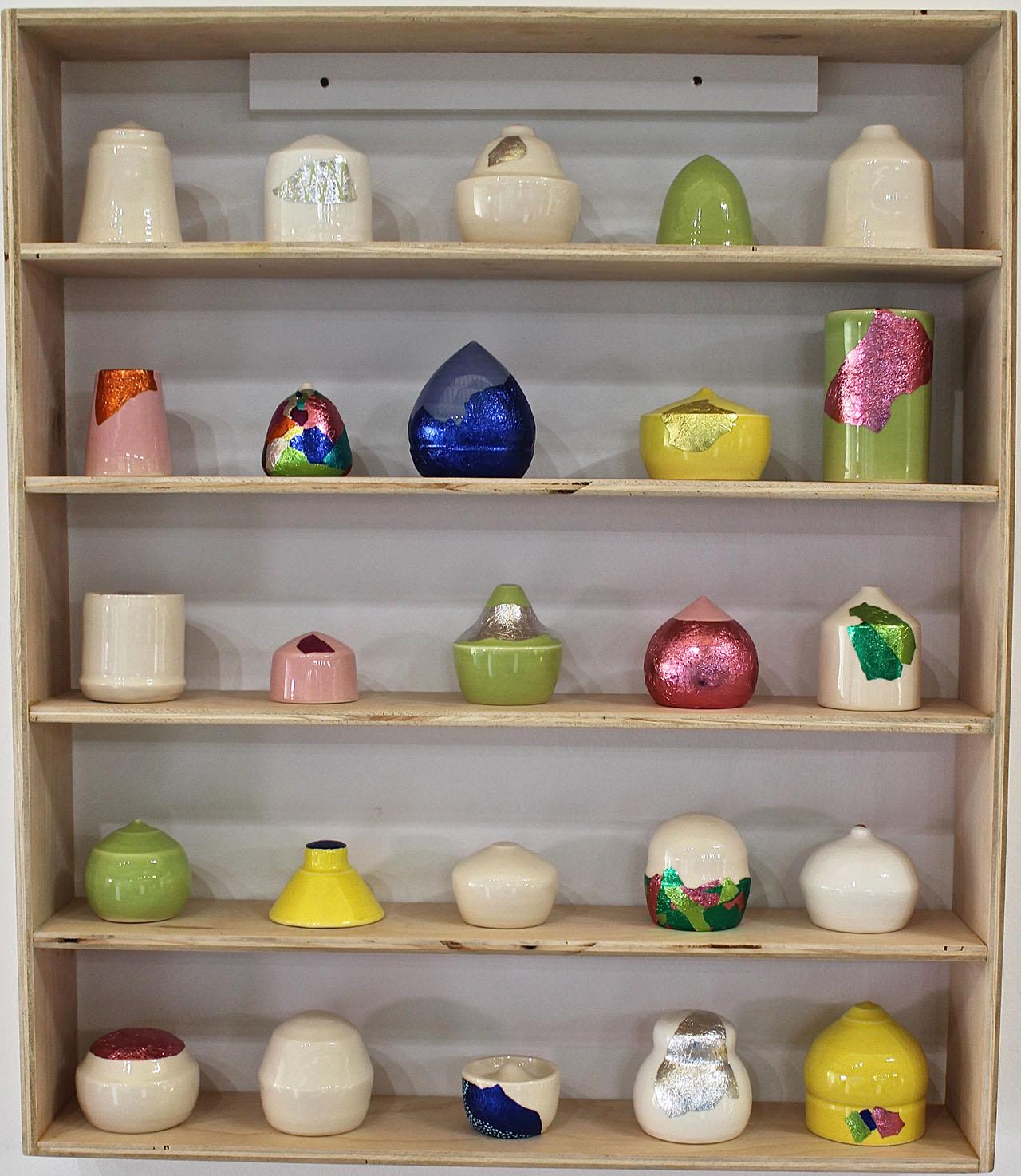 A curio shelf assortment by Victoria Sheehan