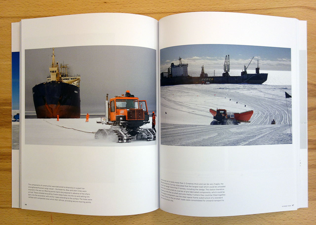 Pages from 'Ice Station' (photo of the book for Hyperallergic)