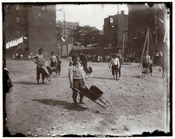 """""""Children's Playground, Poverty Gap,"""" photo by Jacob A. Riis (1892) (courtesy Museum of the City of New York, Gift of Roger William Riis)"""