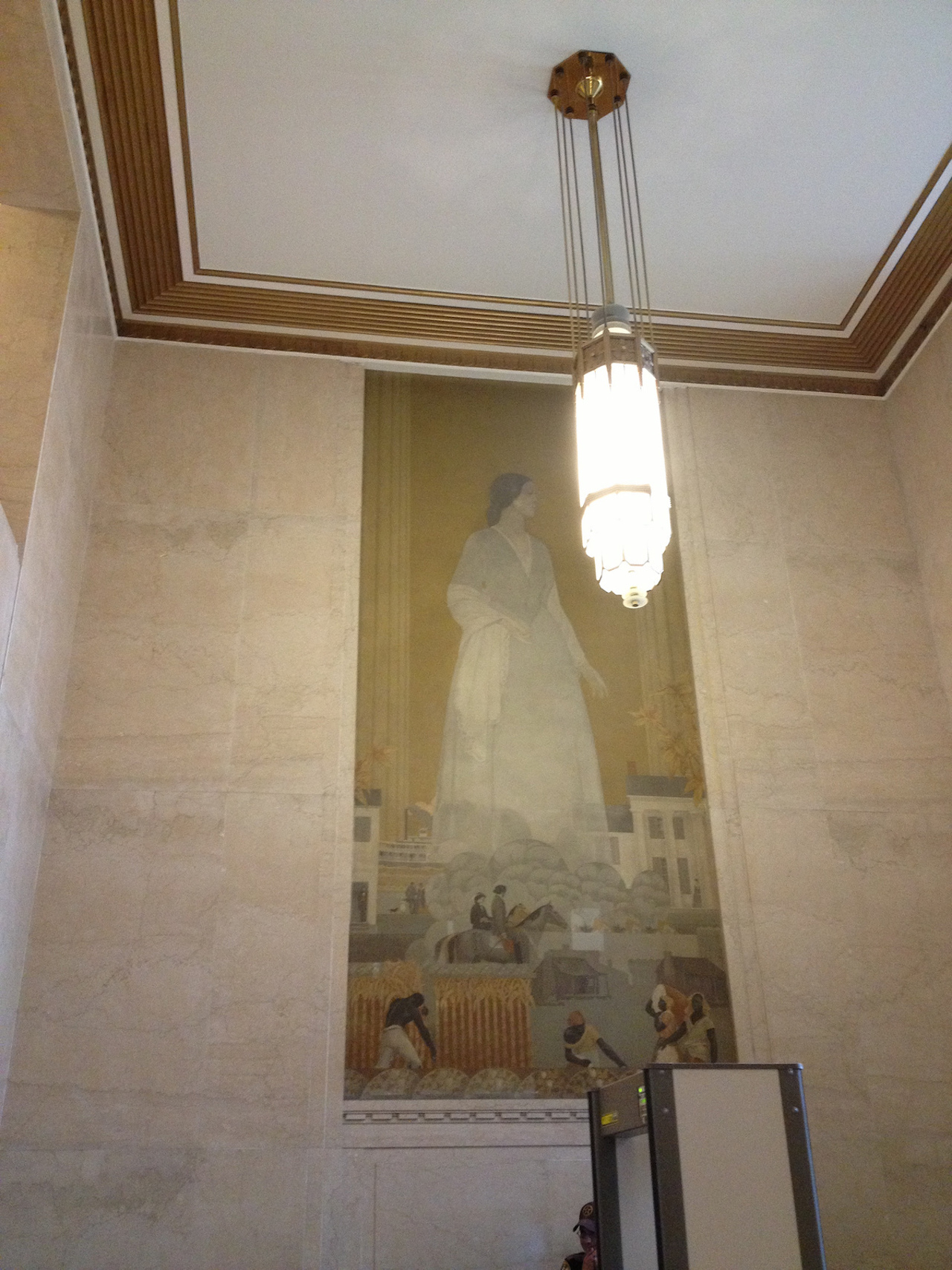 A mural at the courthouse in Jefferson County, Alabama (Image courtesy Ginger Brook)