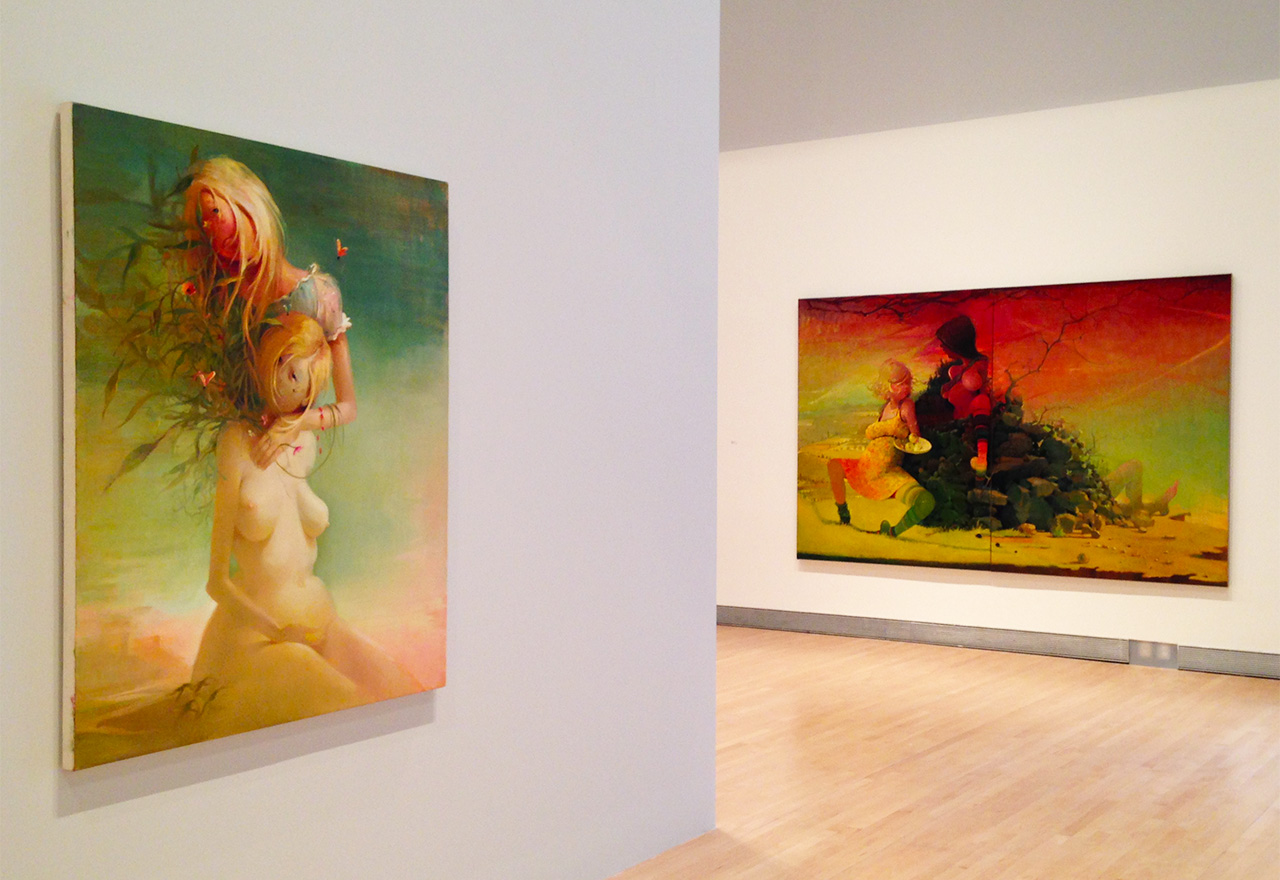 Installation view of 'Lisa Yuskavage: The Brood' at the Rose Art Museum (all photos by the author for Hyperallergic)