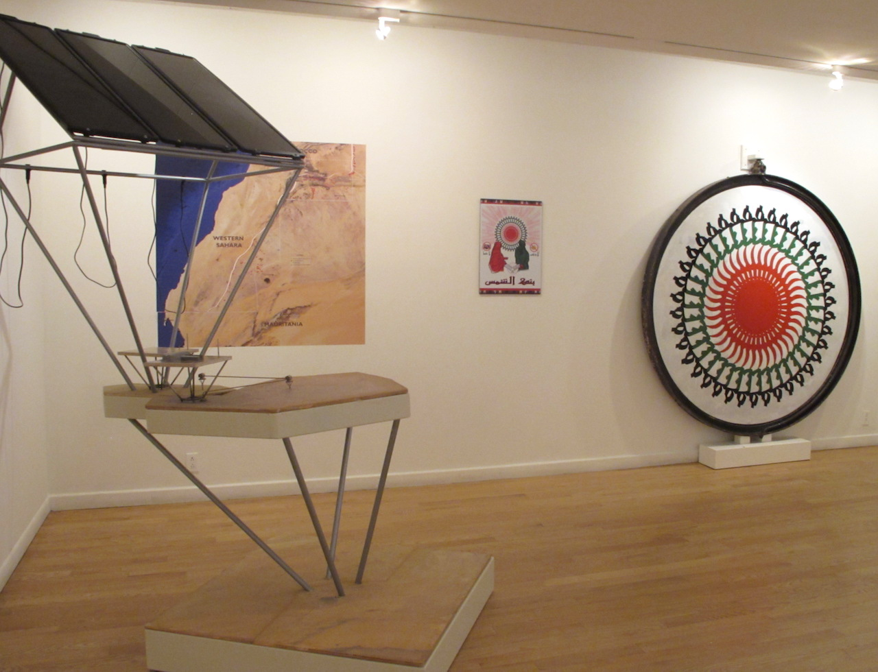 """An installation view of """"The Potential Project"""" featuring """"The Bank of the Sun"""""""