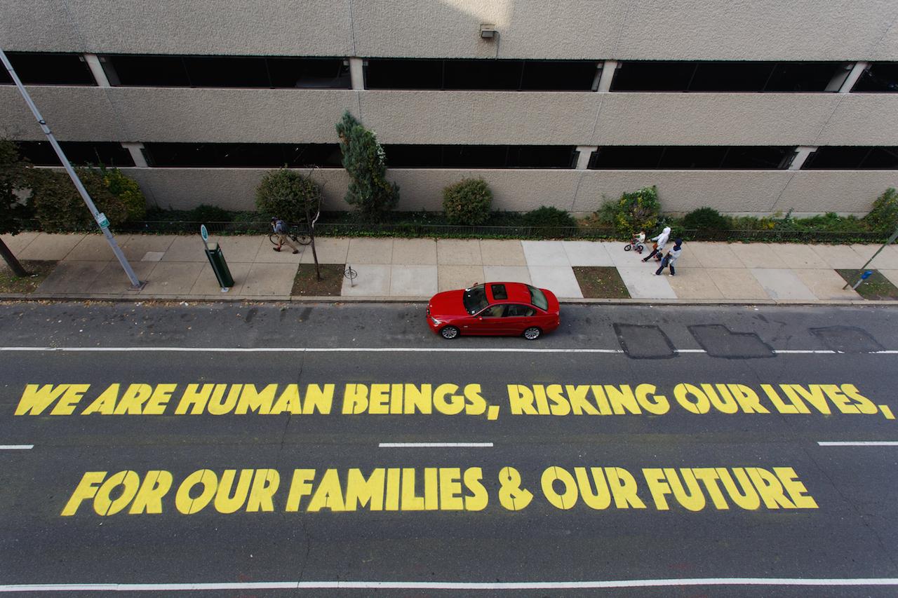 "Michelle Angela Ortiz, ""Somos Seres Humanos,"" (2015) (photo by Steve Weinik)"