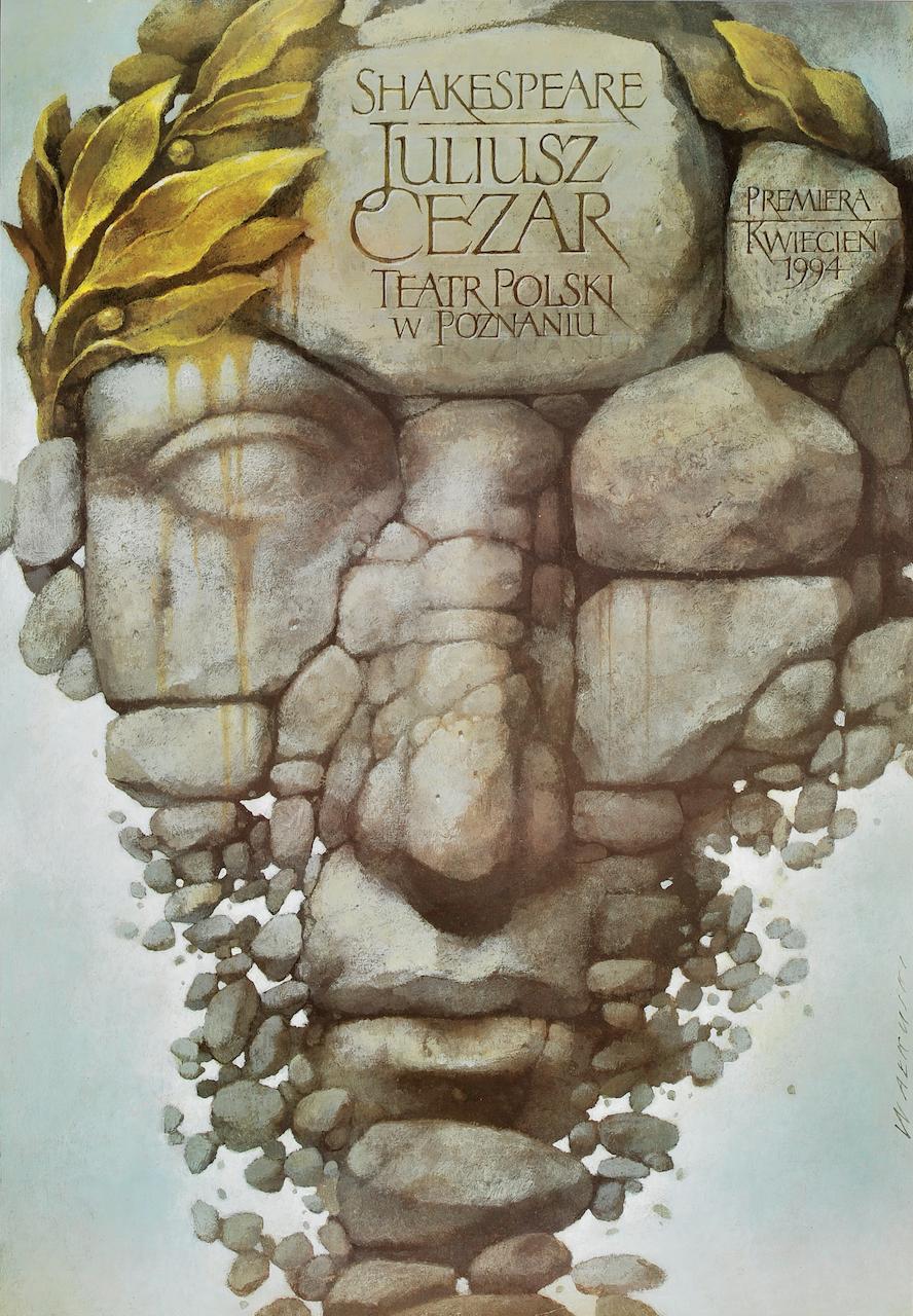 'Julius Ceasar,' Teatr Polski w Poznaniu, Poland (1994), designed by Wieslaw Walkuski (courtesy Dydo Poster Collection)
