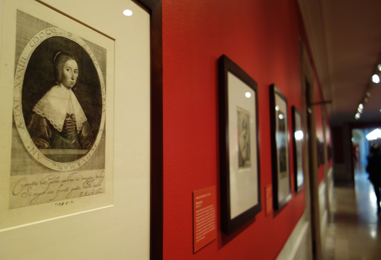 Installation view of 'Printing Women: Three Centuries of Female Printmakers, 1570–1900' (photo by the author for Hyperallergic)