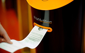 Post image for Vending Machines That Dispense Short Stories Instead of Snacks