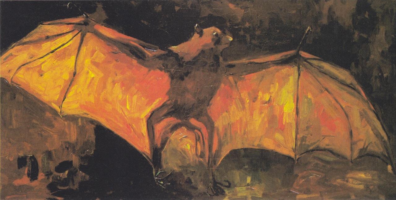 "Vincent van Gogh, ""The bat"" (1886) (Van Gogh Museum, Amsterdam, via Wikimedia Commons)"