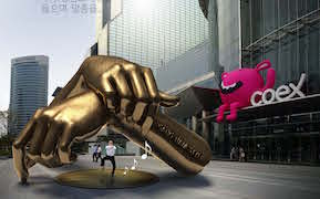 "Post image for Oppa Public Art! Seoul Set to Unveil Golden ""Gangnam Style"" Monument"