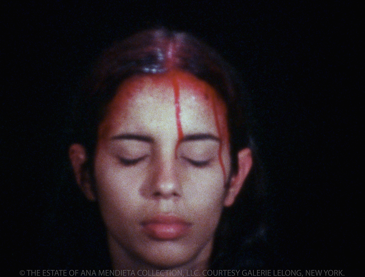 "Ana Mendieta, ""Sweating Blood"" (1973), Super 8 film, color, silent"
