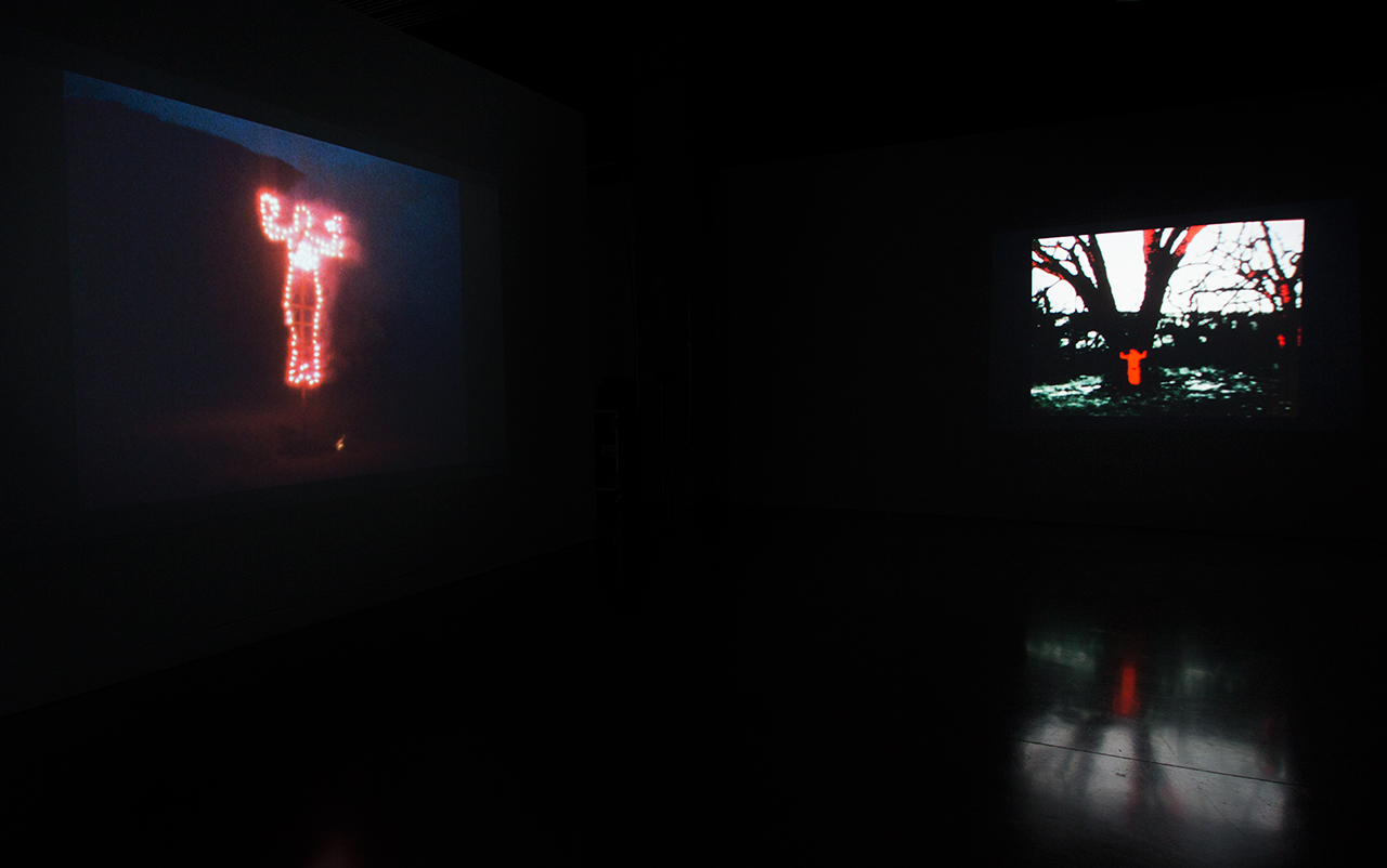 Installation view, 'Covered in Time and History: The Films of Ana Mendieta' at the Katherine E. Nash Gallery (all images courtesy Katherine E. Nash Gallery)