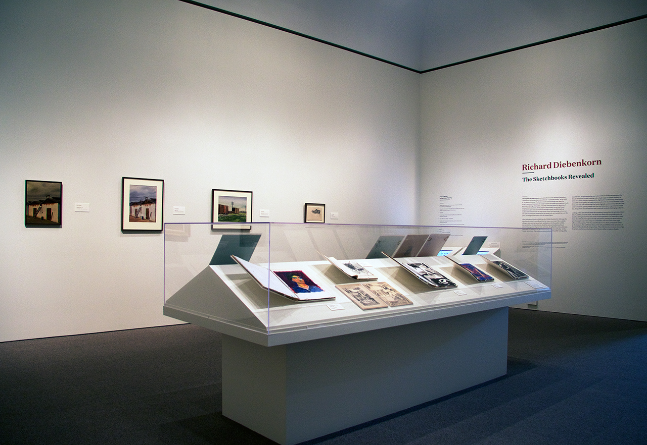 Installation view, 'Richard Diebenkorn: The Sketchbooks Revealed' at the Cantor Arts Center at Stanford University (all images courtesy Cantor Arts Center at Stanford University) (click to enlarge)